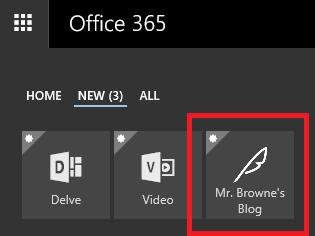 New custom tile in the Office365 app launcher