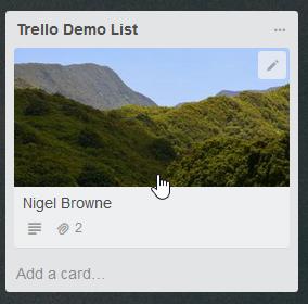 The new card in Trello.