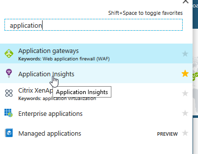 Searching for Application Insights