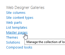 Master pages selection in SharePoint