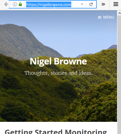 Copying the link for the NigelBrowne.com website